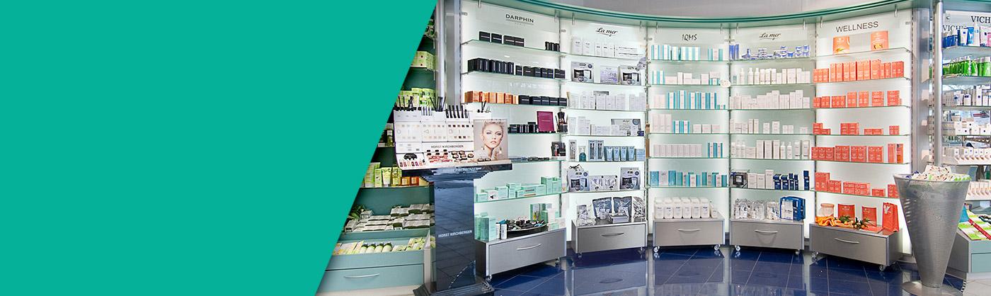 Kosmetikartikel kaufen in der Palmenapotheke Ottobrunn