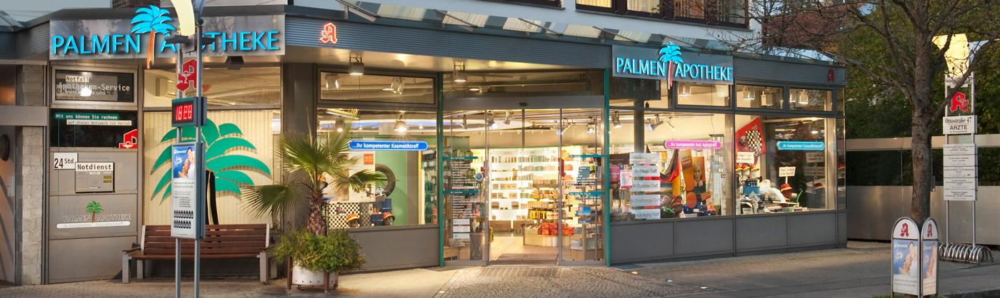 Schaufenster Palmenapotheke Ottobrunn