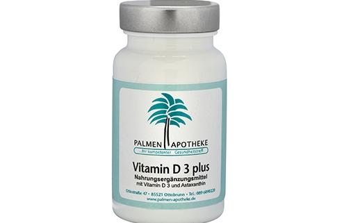Nahrungsergänzungsmittel aus der Apotheke Vitamin D3 plus