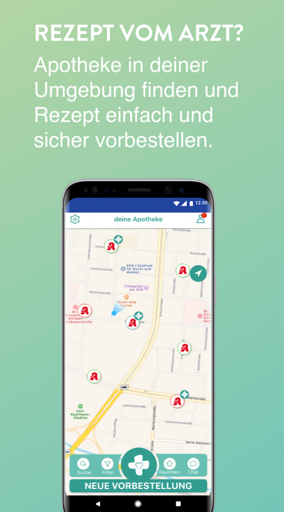 Apothekenapp- digitale Karte